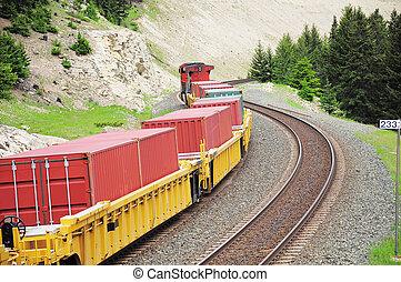 rakomány, train.