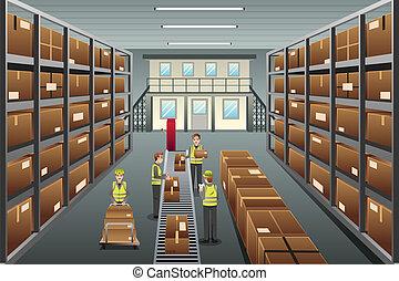 raktárépület, eloszlatás