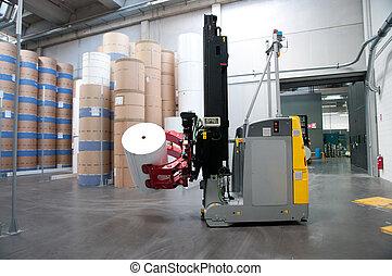 raktárépület, (for, printshop:, paper), automatizált