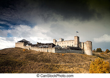 Rakvere mystical medieval castle in autumn