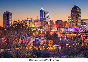 Raleigh Skyline - Raleigh, North Carolina, USA skyline.