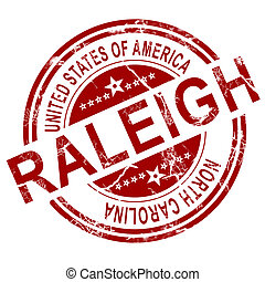 Raleigh stamp with white background