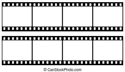 ram, av, fotografiskt filma, seamles