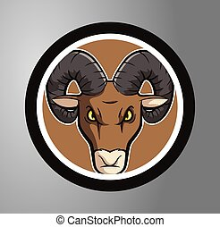 Ram Circle sticker
