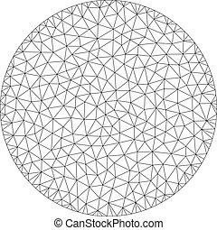 ram, illustration, polygonal, vektor, cirkel, maska