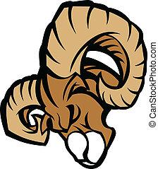Ram Mascot Graphic Illustration - Ram Graphic Mascot Head ...