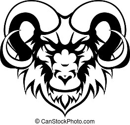 Ram Mean Animal Mascot - An illustration of a ram animal...