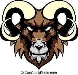 Ram Mean Animal Mascot - An illustration of a ram animal ...