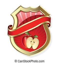 ram, med, äpple