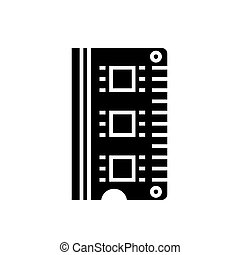 ram - memory icon, vector illustration, black sign on isolated background