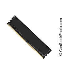RAM memory module isolated on white background