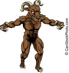 Ram monster mascot