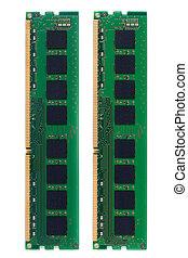 RAM (Random Access Memory) for PC. on white background.