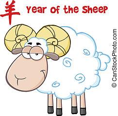 Ram Sheep Character Under Text