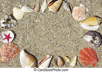 ram, strand, skalen