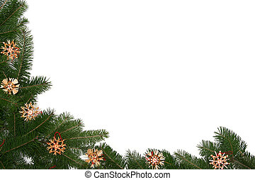 ram, träd, jul