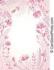 ram, vektor, bakgrund, flowers., illustration