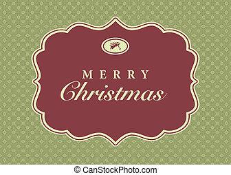 ram, vektor, jul, bakgrund, utsirad