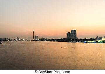 Rama 8 Bridge at night