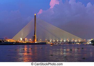 Rama 8 bridge in sunset time