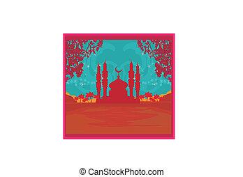 Ramadan background - mosque vector illustration