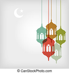 Ramadan background with copy space