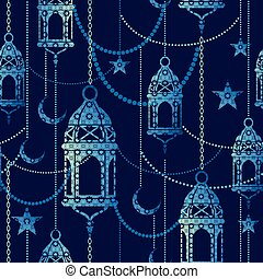 Ramadan background. Vector seamless pattern.