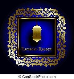 Ramadan background with decorative frame