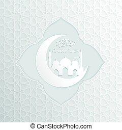 ramadan backgrounds vector, Ramadan kareem with mosque