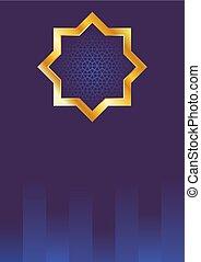 Ramadan Blue Background