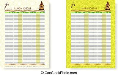 Ramadan Calendar Schedule - Fasting and Prayer time Guide -...
