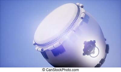 Ramadan drum with DOF and lense flairs