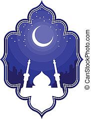 ramadan, &, eid, mubarak, gruß, 2