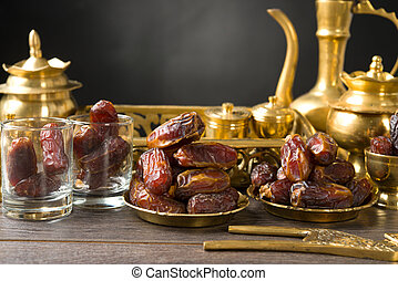 ramadan food also known as kurma , Palm dates