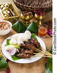 ramadan food, satay kebab roasted chicken