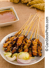 ramadan food, satay kebab roasted chicken