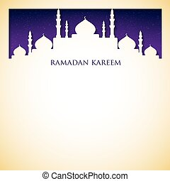 """ramadan, format., moschee, kareem"", vektor, (generous,..."