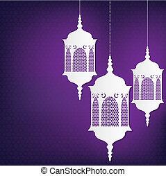 """""""ramadan, format., ramadan), kareem"""", vector, (generous, tarjeta, linterna"""