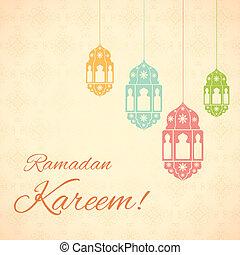 (, ramadan, grüße, hintergrund, kareem, ramadan)