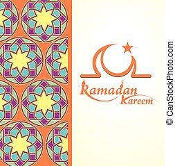 Ramadan greetings card - Ramadan greetings background....