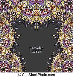 ramadan, kareem, 矢量, 設計