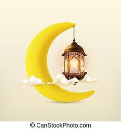 Ramadan kareem, 3d vector icon
