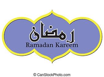 ramadan, kareem, abbildung, in, vektor