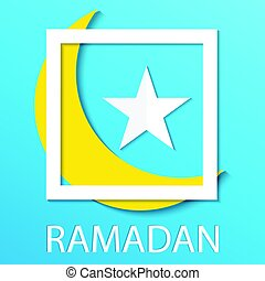 Ramadan kareem background. Paper cut vector illustration