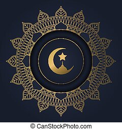 Ramadan Kareem background with a decorative circular frame