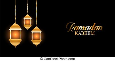 ramadan kareem background with glowing hanging lanterns 0603