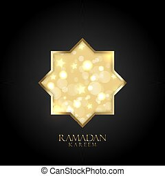 ramadan kareem background with gold bokeh lights and stars 1603