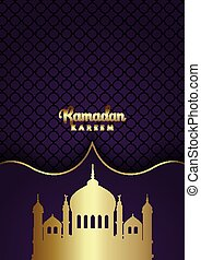 ramadan kareem background with gold mosque silhouettes 3003