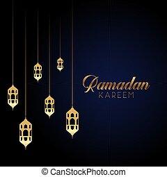 ramadan kareem background with hanging lanterns 1603