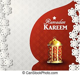 ramadan kareem background with lantern